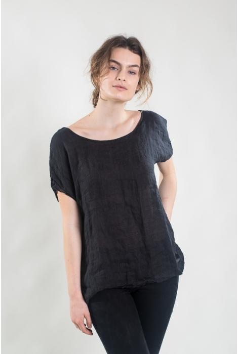 Tee-shirt Mari lin presque noir
