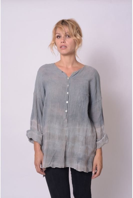 Blouse Anastasia Gaze de coton Collection Indigo