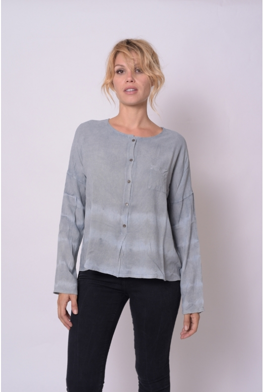 Blouse Anastasia Etamine de Laine Collection Indigo