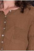 Blouse Anastasia Gaze de Coton Savane