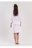 Blouse Anastasia Gaze de Coton Blanc