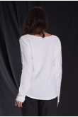 Tee-Shirt Manches Longues Duo Blanc