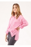 Blouse Anastasia Gaze de Coton Rose