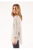 Blouse Anastasia Gaze de Coton Acier