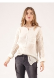 Blouse Anastasia Gaze de Coton Naturel
