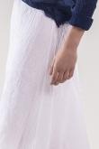 Jupe Cassia Gaze de Coton Blanc
