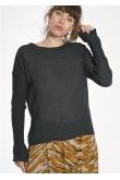 Tee Shirt Manches Longues Presque Noir