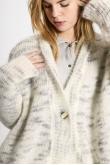 Gilets Mohair Blanc Gris